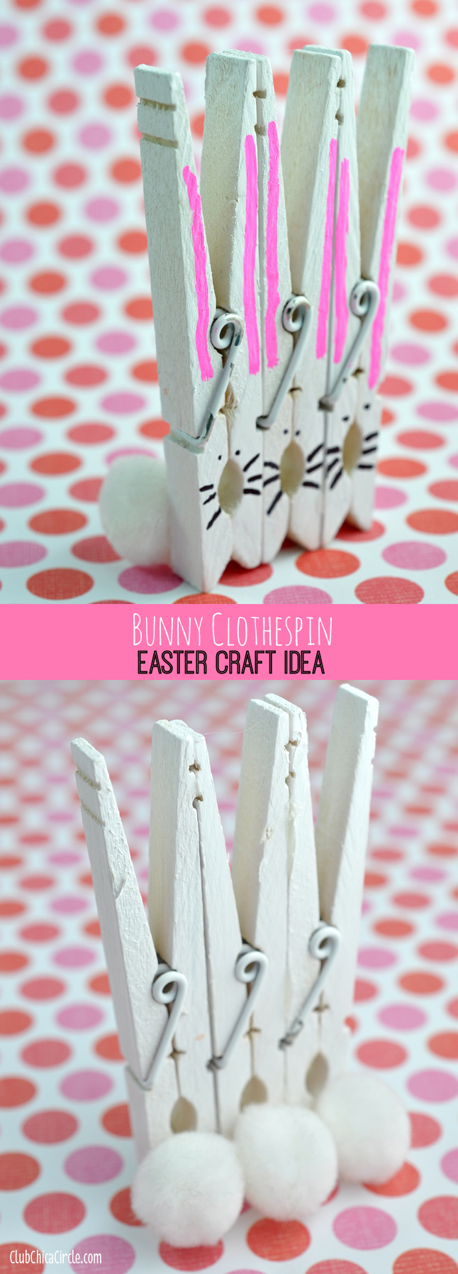 Bunny Clothespins Easter Craft Idea And Diy