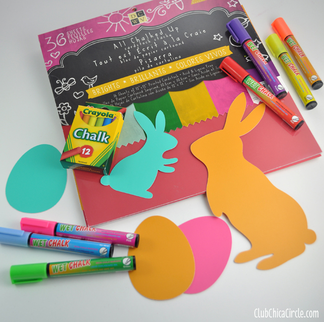 Chalkboard Paper Eggs and bunny supplies