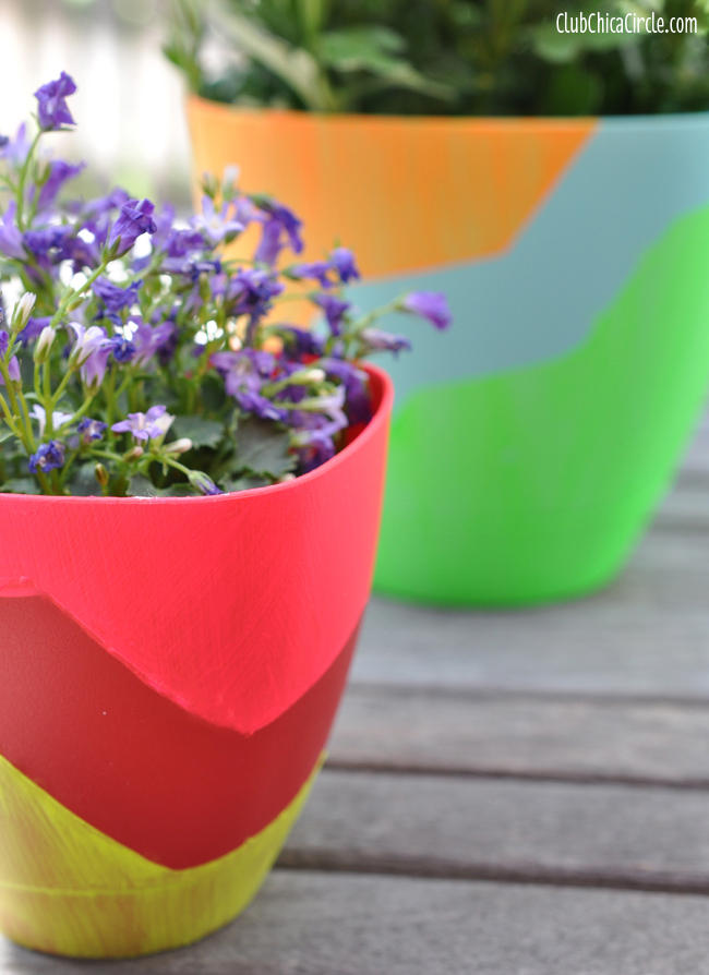 Cool Painted Spring Planters Craft idea
