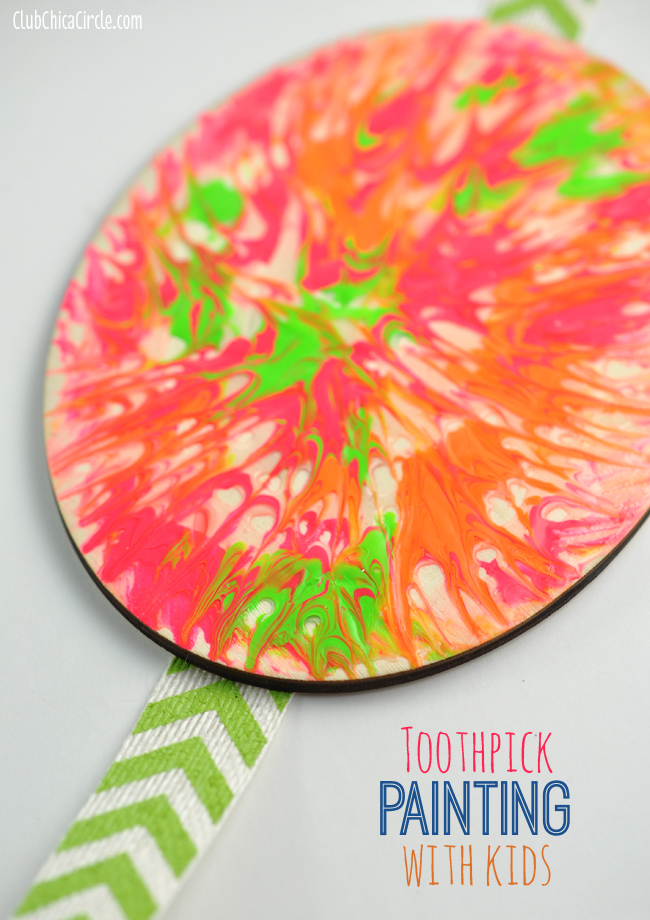 Easy Toothpick Painting With Kids
