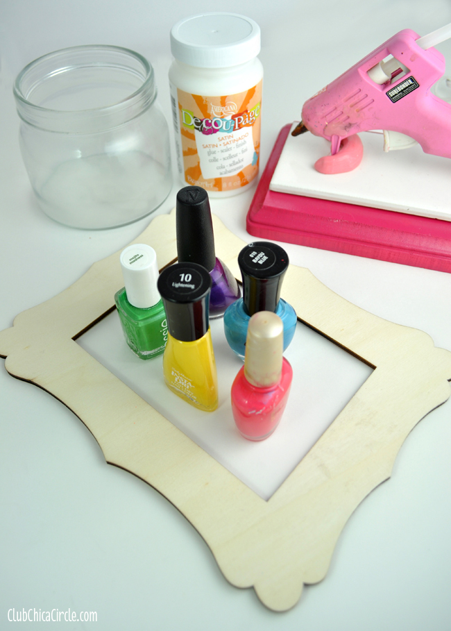 Mother's Day Glue Gun Dot Frame Supplies