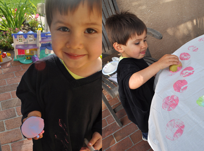 Potato Printing Easter Activity for all Ages