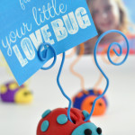 Premo Clay Homemade Ladybug Picture Holder