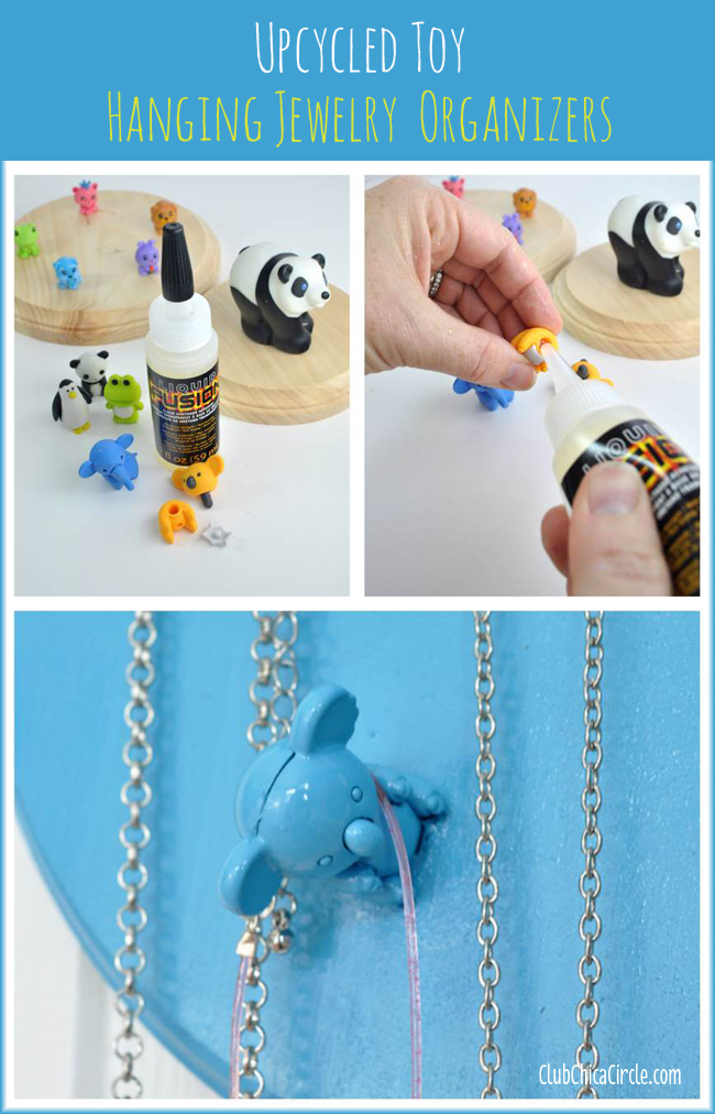 Upcycled Toy Hanging Jewelry Organizers Craft Diy