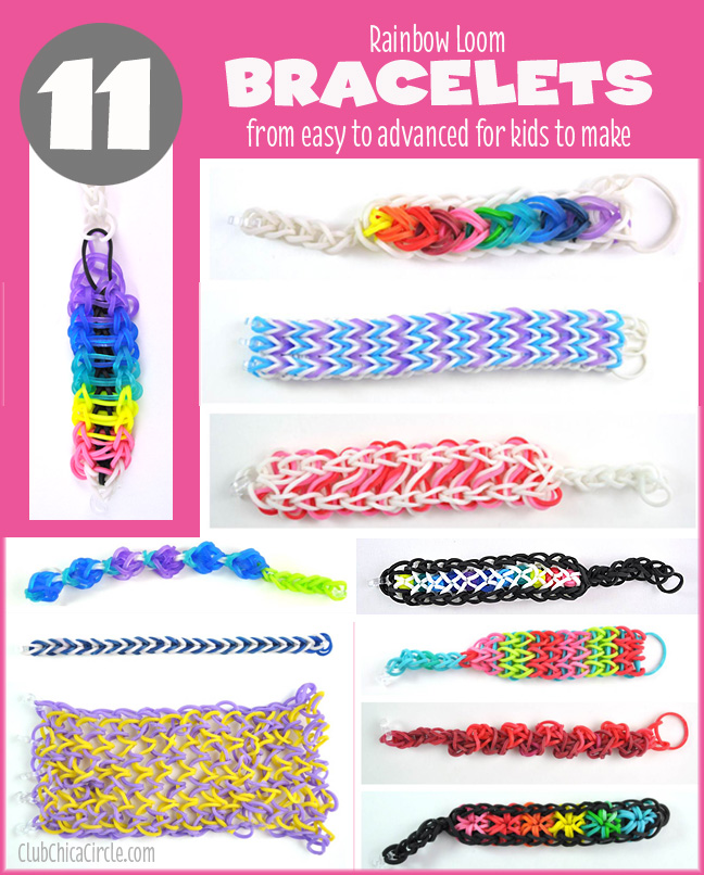 11 Cool Rainbow Loom Bracelets For Kids To Make From Easy To Advanced