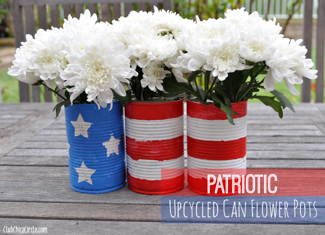 4th of July Party Table decor craft idea