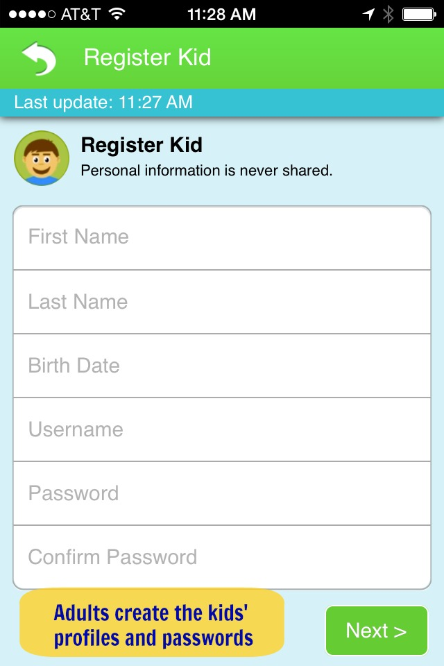 Kid-Friendly Social Sharing App