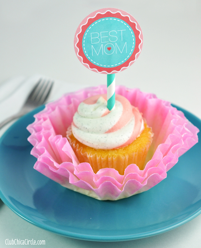 Best Mom Cupcakes with Coffee Filter hand dyed flowers