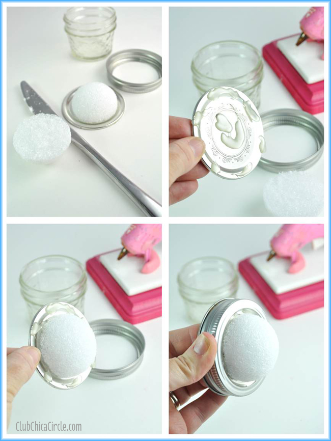 Caulk Cupcake Mini Mason Jar Craft tutorial