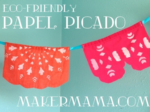 Eco Friendly Paper Picada Party Banner from Maker Mama