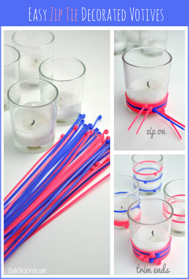 How to Decorate a Votive with a Zip Tie