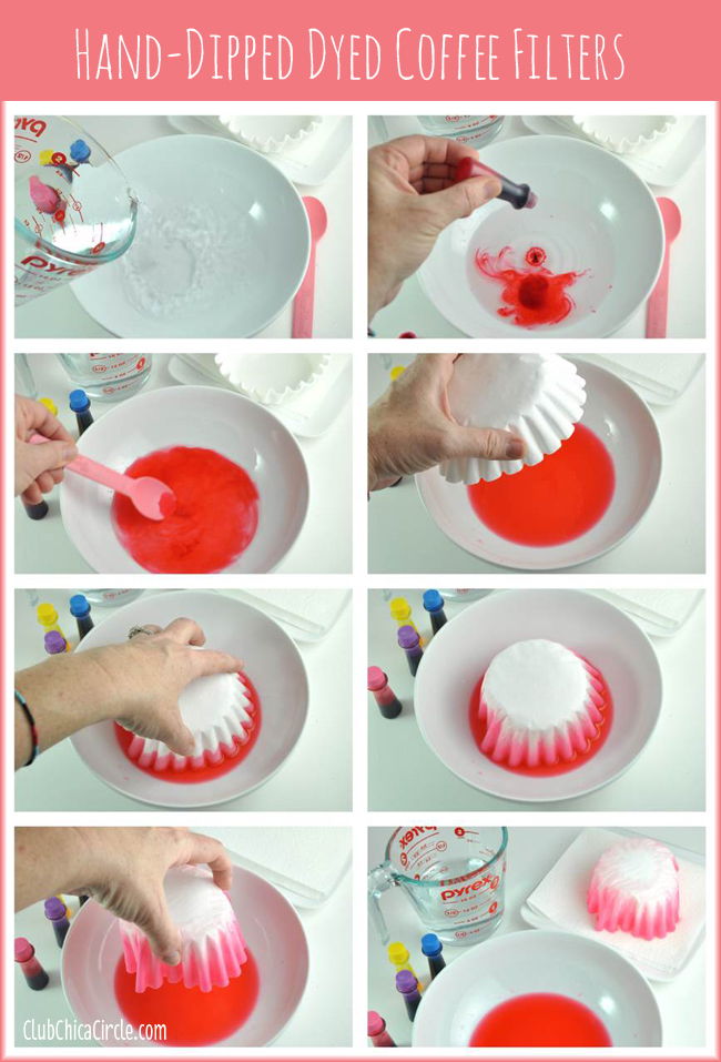 How to Dip Dye Coffee Filters for Crafting