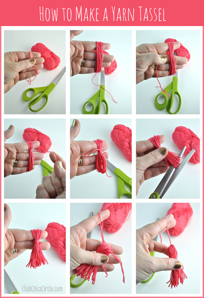 How To Make Bookmarks Part - 42: How To Make An Easy Yarn Tassel