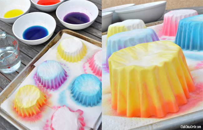 How to dye coffee filters for cupcake decorations