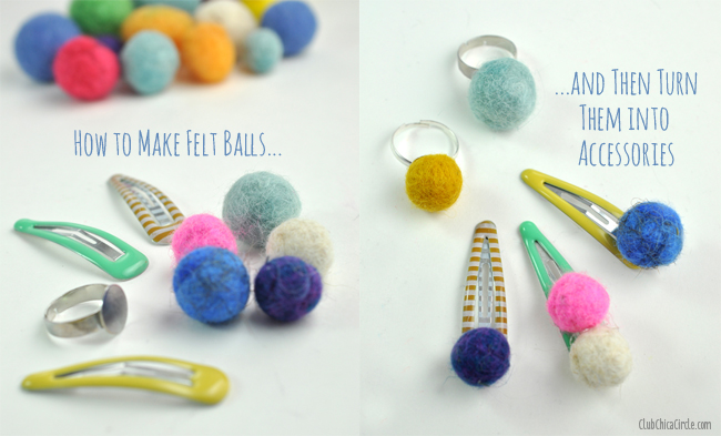 How to make felt balls and then turn them into accessories