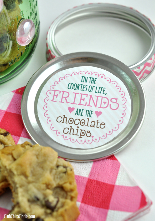 Mason Jar Cookie Jar Printable Label