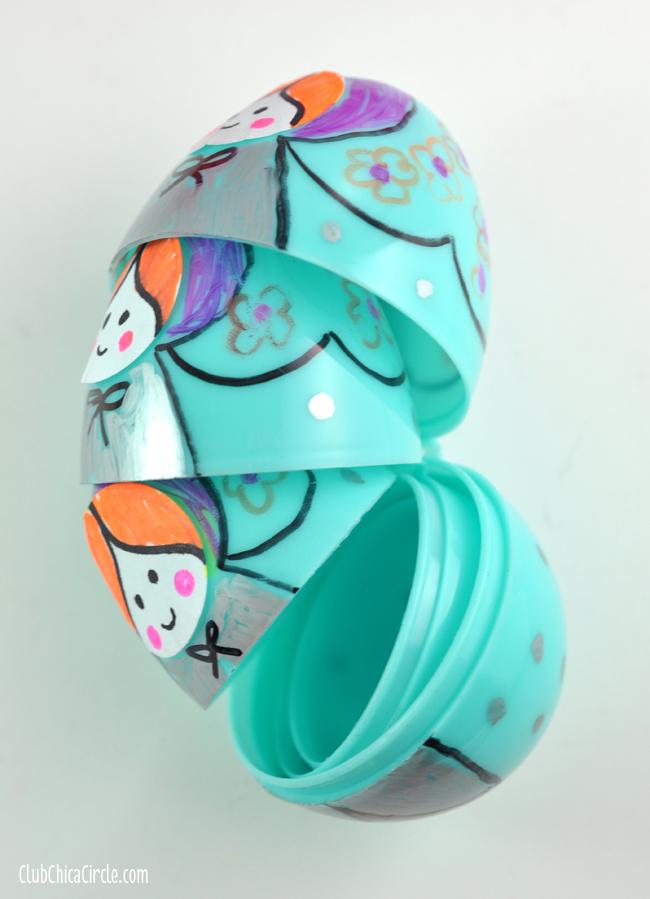 Plastic Egg Russian Nesting Dolls Craft Idea