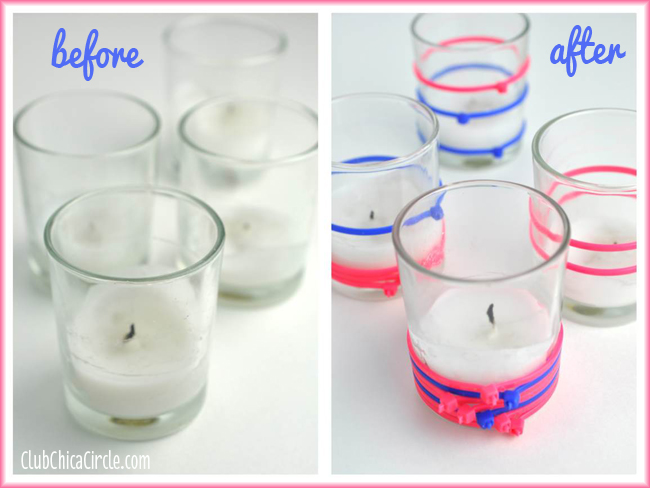 Zip Ties Decorated Votives Easy Craft Idea
