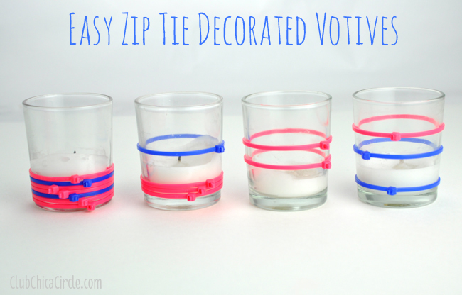 Zip tie votives for Craft lightning