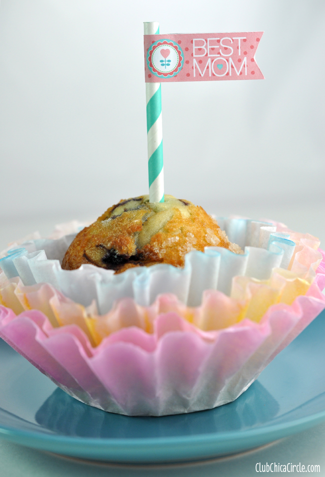 mother's day cupcake treat with dyed coffee filter flower craft