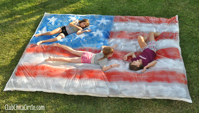 4th of July Water Blob backyard party fun