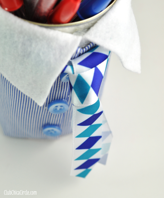 Father's Day Homemade Pencil Cup craft and gift idea