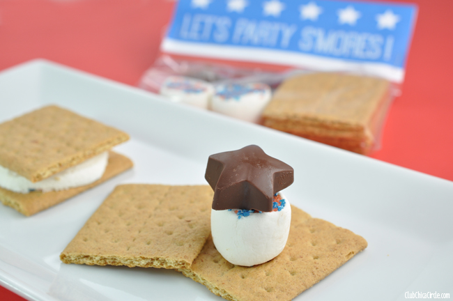 How to make a 4th of July Smores Treats