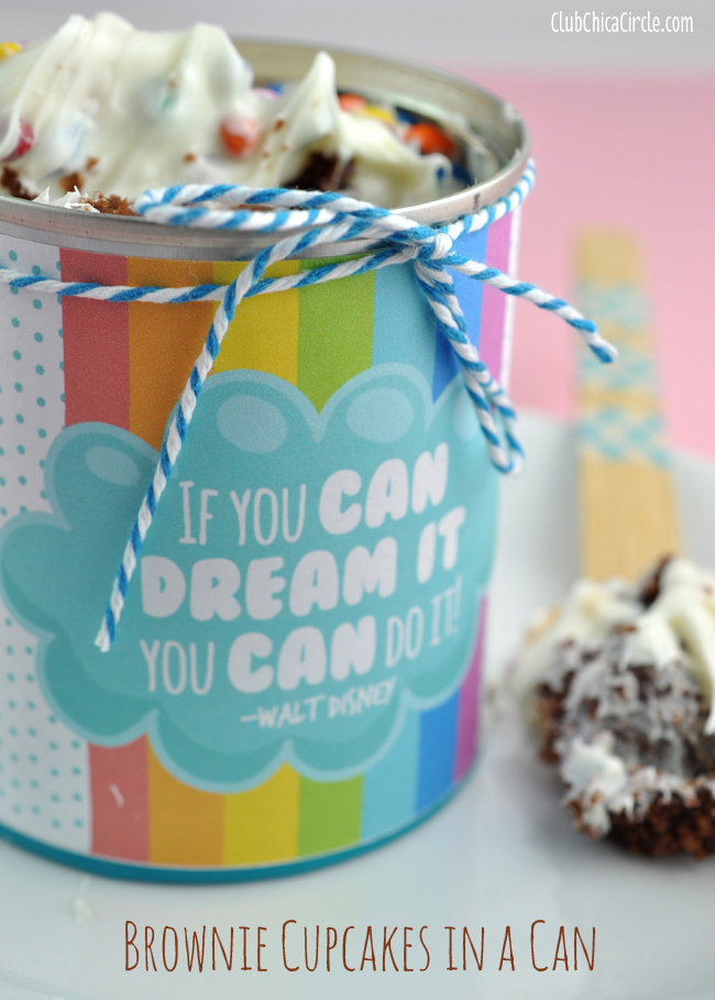 If You Can Dream It You Can Do It cupcake in a can surprise