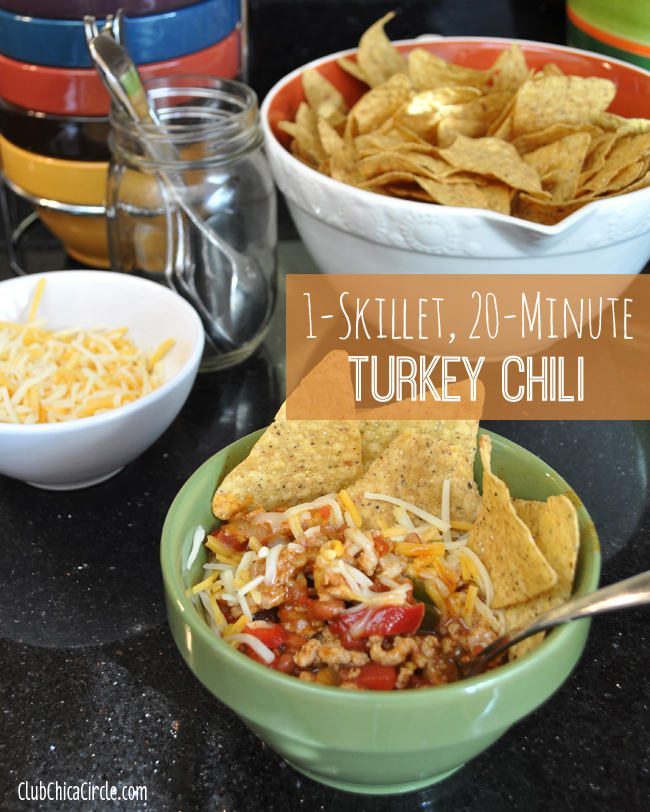 One-Skillet 20-minute Easy Turkey Chili