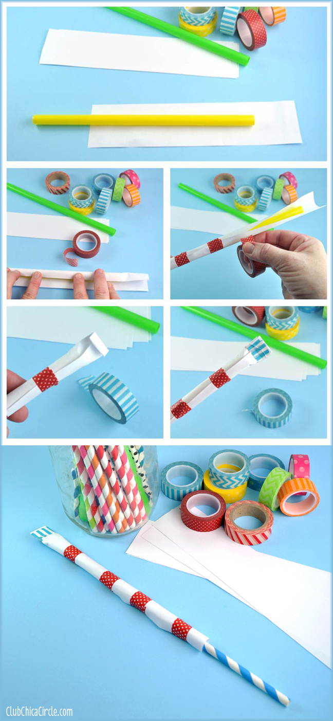 How to Make a Washi Tape Straw Shooter