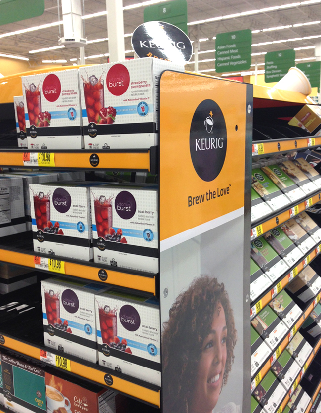 Keurig Brews Over Ice Display at Walmart