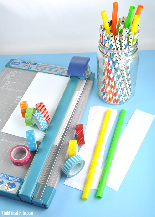 Washi Tape Straw Shooter Supplies