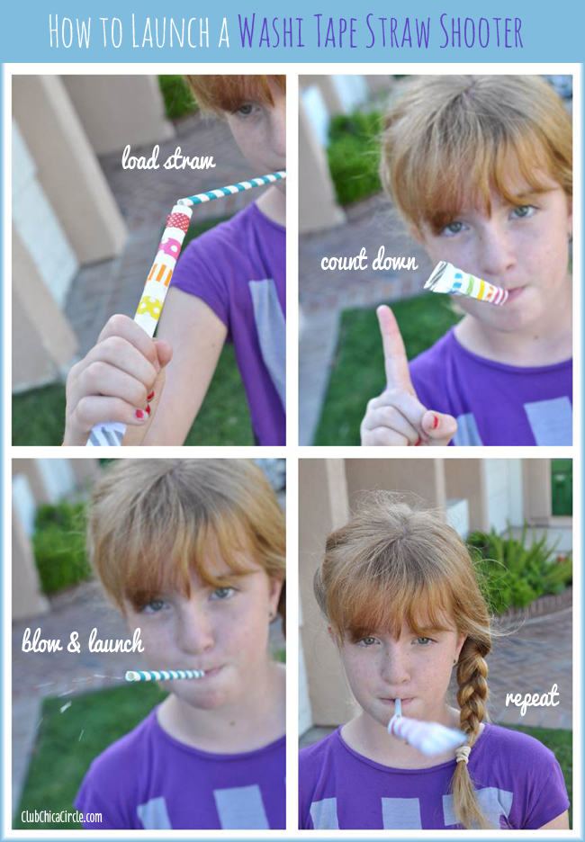 Washi Tape Straw Shooters Fun for Kids