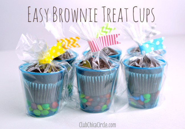 easy brownie treat cups #givebakery