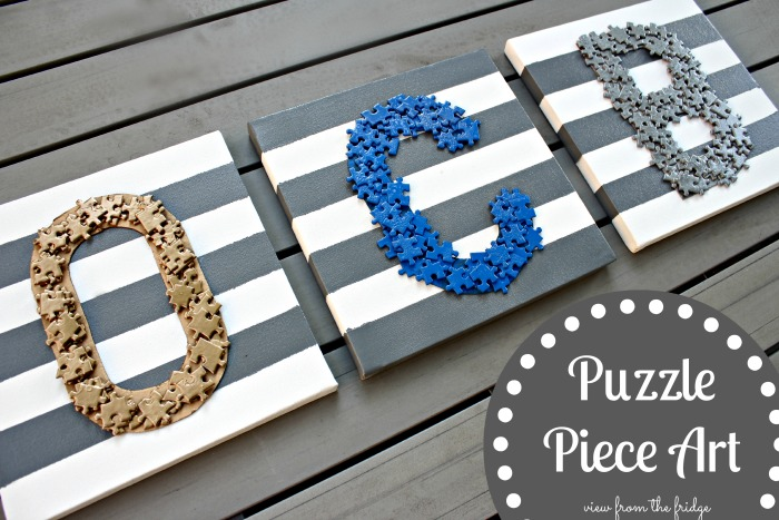 10 fabulous diy projects to try for your home puzzle piece art diy solutioingenieria Gallery