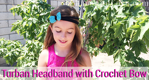 turban-headband-with crochet bow DIY