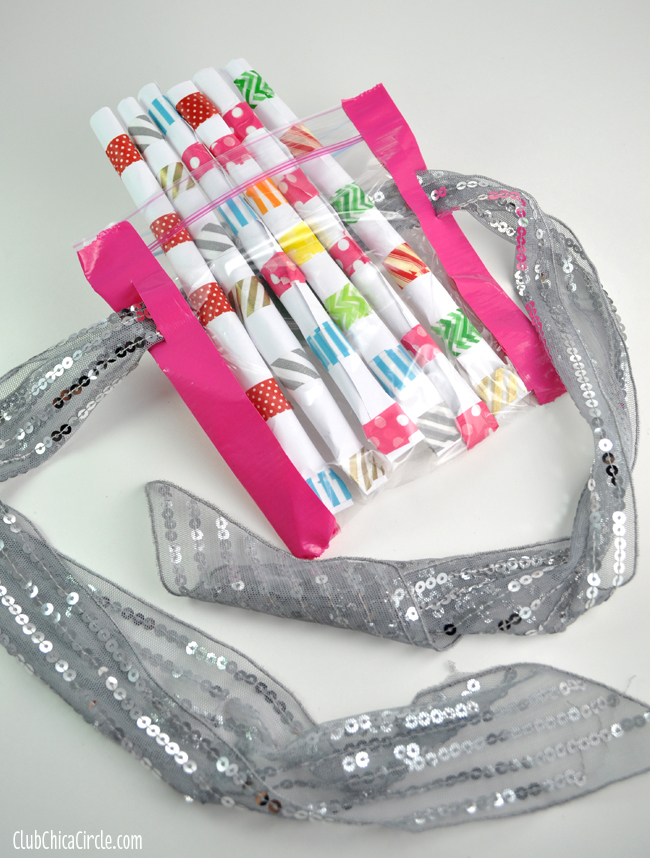 washi tape straw shooter belt craft
