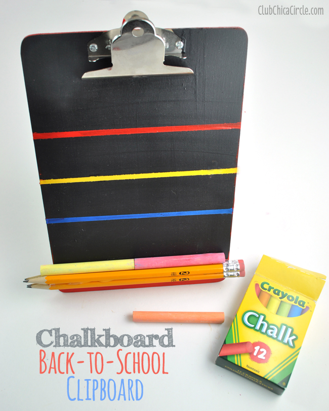Back-to-School Chalkboard Clipboard Craft Idea