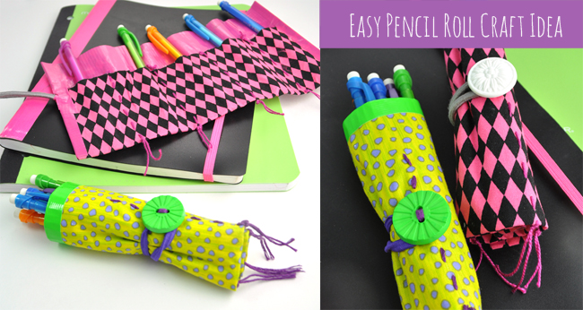 Easy Pencil Roll Craft Idea for Back-to-school