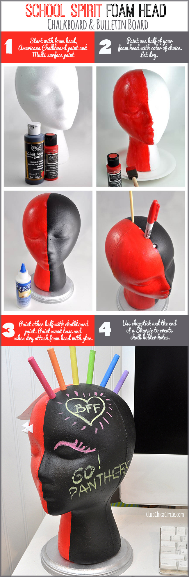 How to make a cool chalkboard bulletin board desk accessory