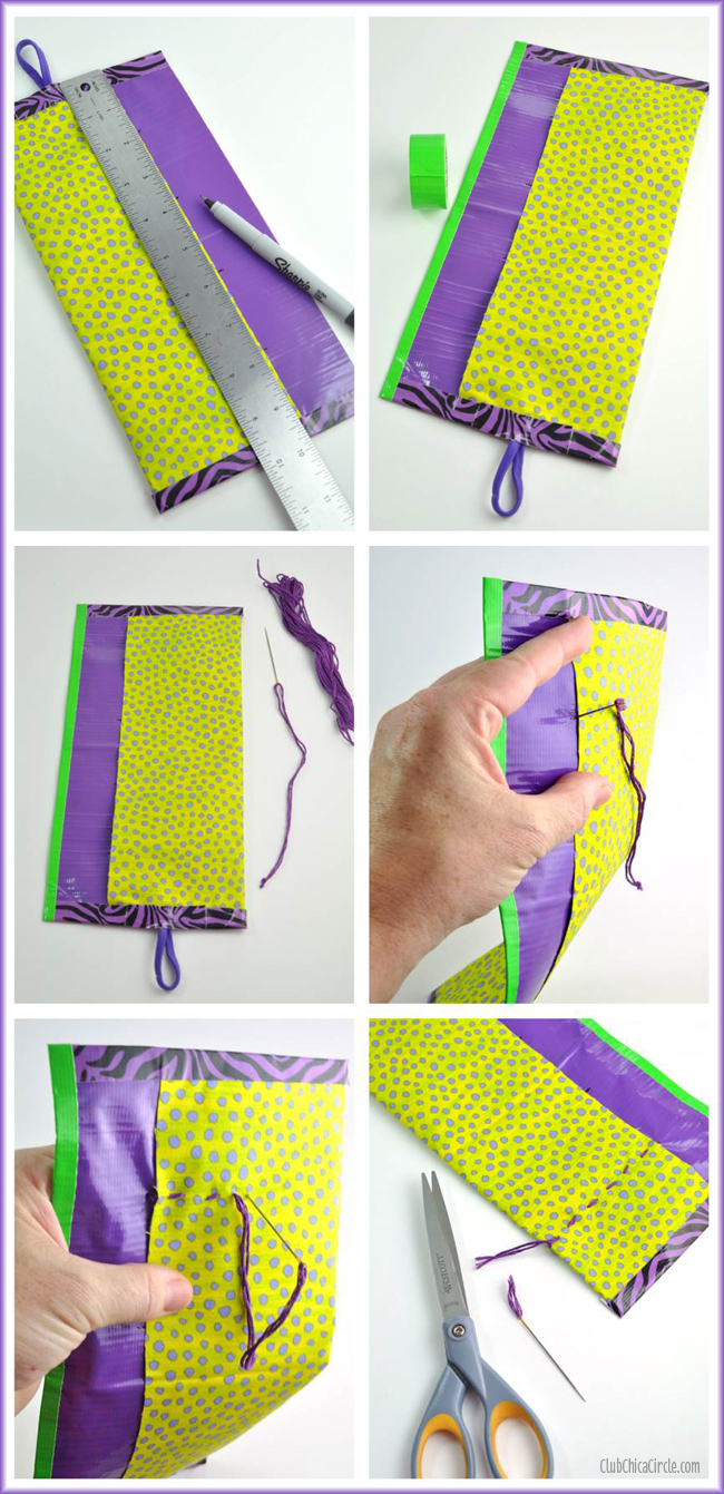 How to make a pretty pencil roll for school