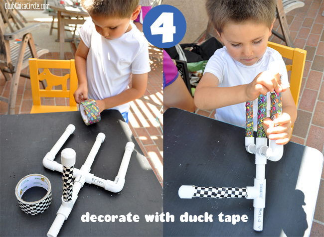 Step 4 - decorate with Duck Tape