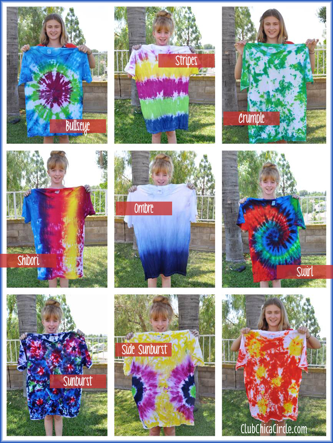 Tie Dye Shirt Designs by Tweens