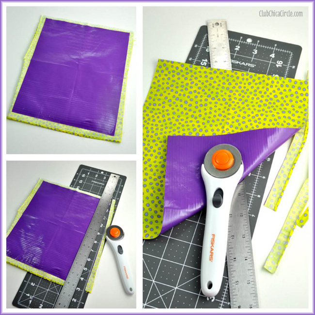 back to school fabric and duck tape pencil roll craft idea for kids