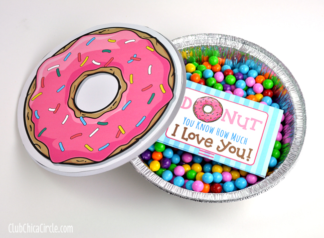 Donut Printable for Birthday Gift Idea