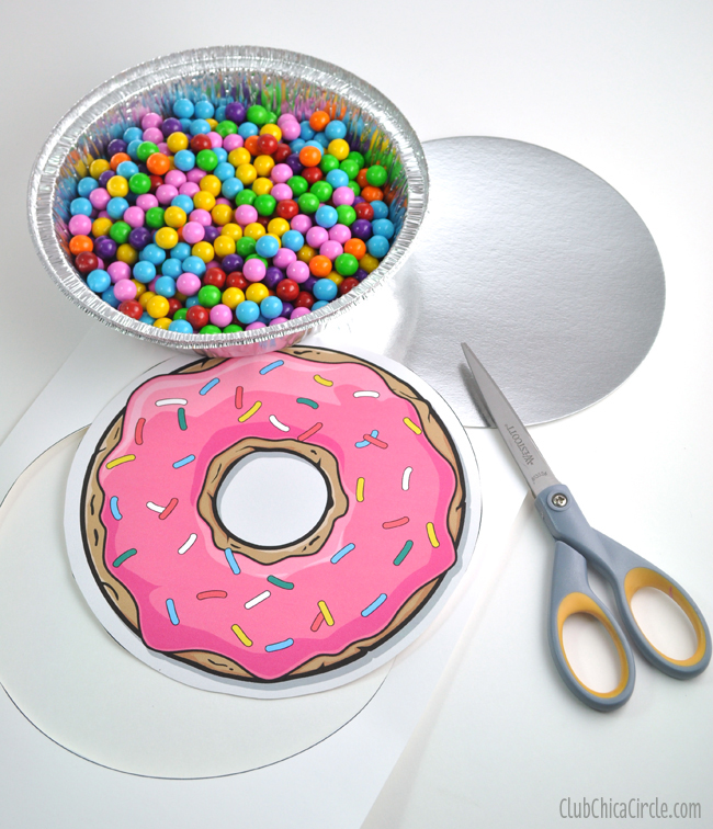 Donut Printable for To Go Container Lid and Gift Idea