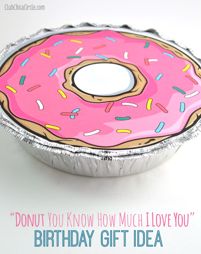 Donut Quote and Birthday Gift in To Go Container