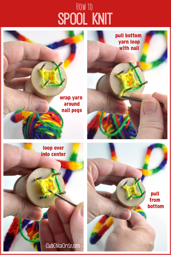 How to Spool Knit easy tutorial for tweens