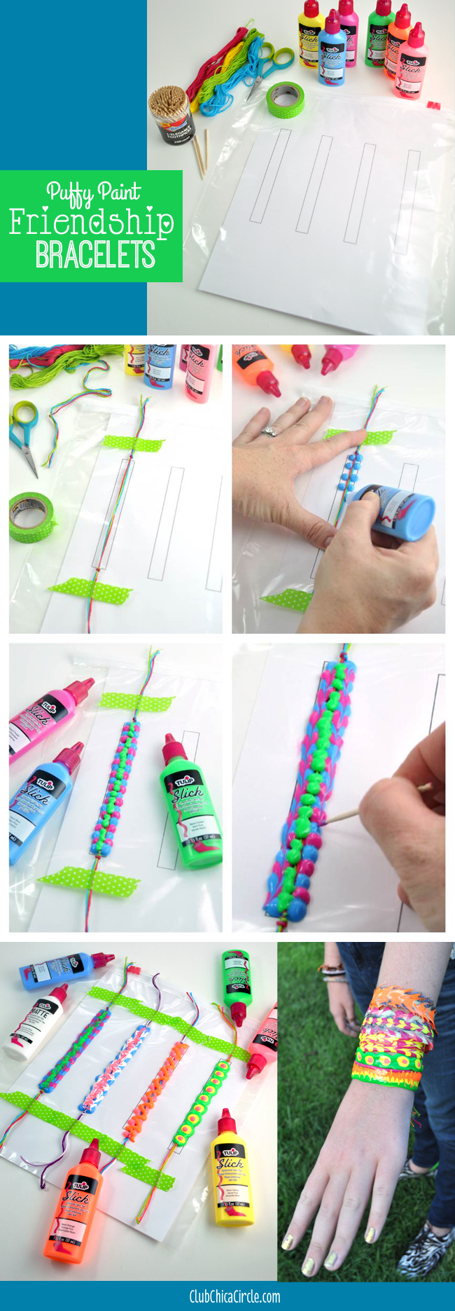 How to make a puffy paint friendship bracelet