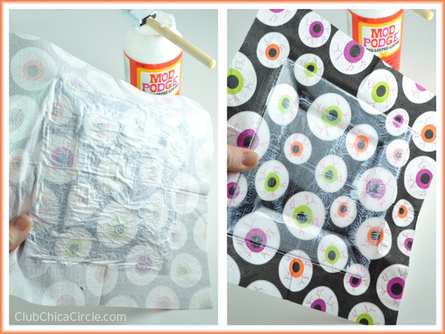Mod Podge Party Plate easy craft idea